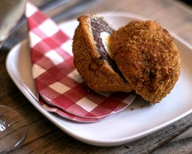 black scotch egg